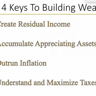 4 Keys to Building Wealth