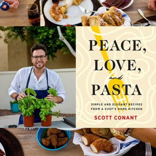 FOOD NETWORK chef SCOTT CONANT of CHOPPED, CHOPPED SWEETS and author of new book PEACE, LOVE AND PASTA