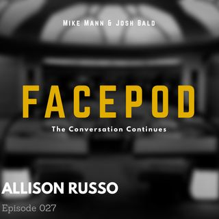 Episode 027 - Allison Russo dispenses free life advice and illegal cheeses.