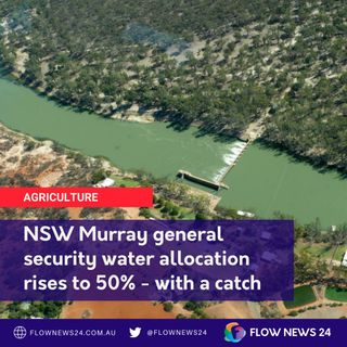 Increased NSW Murray water allocation - but with a catch