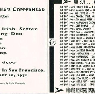 John Cipollina Live at Winterland on 1972-12-16