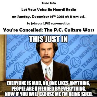 You're Cancelled: The P.C. Culture Wars