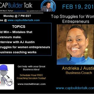 CAPBuilder Talk  - Top Struggles for Women Entrepreneurs
