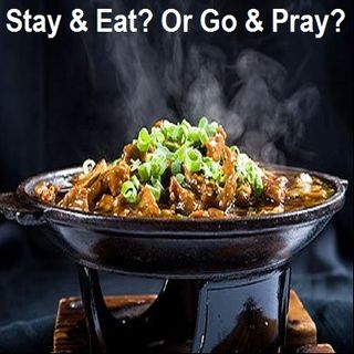Food is Served When the Prayer is Being Established