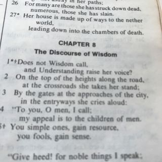 Chapter 8: The Discourse of Wisdom