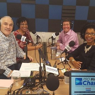 Greg Hodgin and Rachel Lewis with Peacebuilding Solutions and Martina Edwards with Access to Capital for Entrepreneurs on Non Profits Radio
