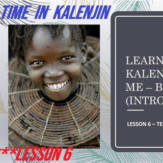 Telling Time in Kalenjin