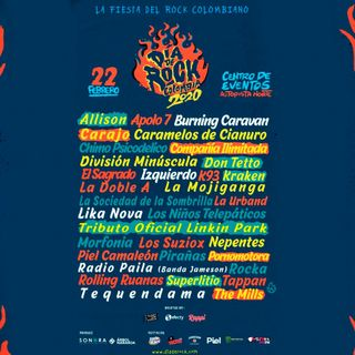 Llegó la fiesta del Rock nacional, ¡Dia del Rock Colombia! Yeah¡¡¡