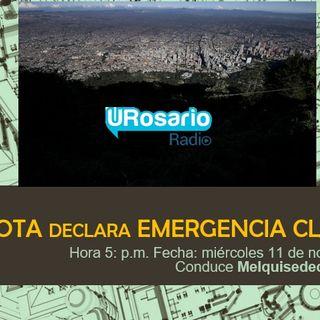 El Concejo declara emergencia climática para Bogotá