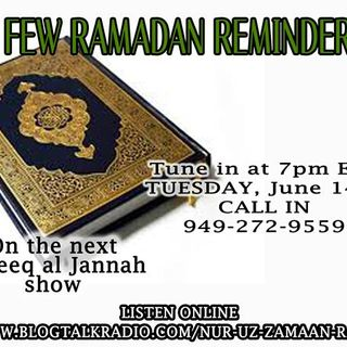 A Few Ramadan Reminders