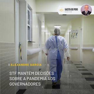 STF mantém decisões sobre a pandemia aos governadores