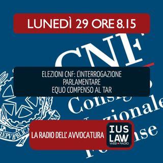 ELEZIONI CNF: L'INTERROGAZIONE PARLAMENTARE - EQUO COMPENSO AL TAR - Lunedì 29 Ottobre 2018 #Svegliatiavvocatura