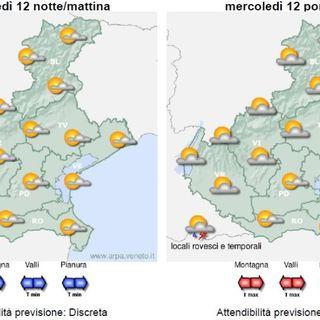 Previsioni meteo 11-14 agosto. Tempo stabile, con una pausa di instabilità giovedì