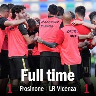 1-1 del Vicenza a Frosinone: salvezza conquistata con un turno di anticipo