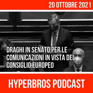Draghi in Senato per le comunicazioni in vista del Consiglio europeo