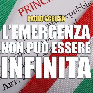 Paolo Sceusa Attenti a non trascinare allinfinito la logica dellemergenza