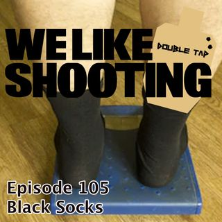 WLS Double Tap 105 - Black Socks
