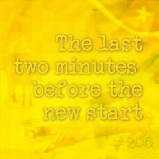 The last two minutes before the new start (#206)