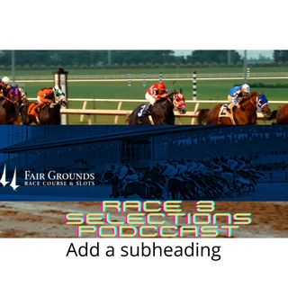 FAIRGROUNDS R3 SELECTIONS FOR 3/36