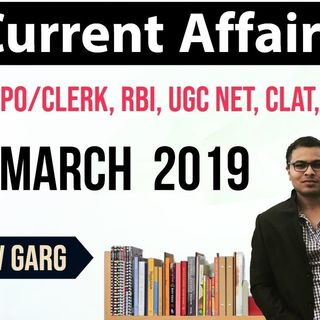 MARCH 2019 Current Affairs in English 30 March - Current Affairs for All exams by Dr Gaurav Garg