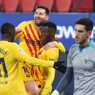 Como mire la victoria del Barcelona contra el Osasuna por la liga