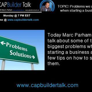 CAPBuilder Talk - The biggest problems starting a business