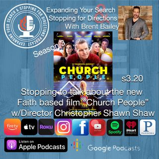 "Stopping to talk about the new Faith based film ""Church People"" w/Director Christopher Shawn Shaw s3.20"