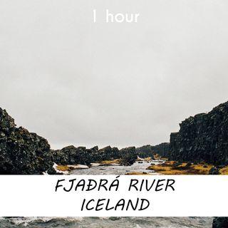 Fjaðrá River, Iceland | 1 hour RIVER Sound Podcast | White Noise | ASMR sounds for deep Sleep | Relax | Meditation | Colicky