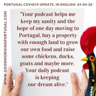 Covid19 Update for Portugal & 'Pause Positives'