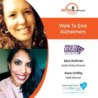 8/22/18: Sara Kofman and Kara Griffey with Alzheimer's Association Oregon & SW Washington Chapter | Walk To End Alzheimer's