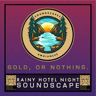 Rainy Hotel Night Soundscape   White Noise   ASMR & Relaxation