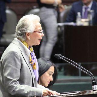 Comparece Olga Sánchez en Cámara de Diputados