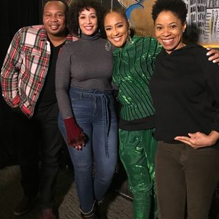 Amanda Seales and Roy Wood Jr visit Friends