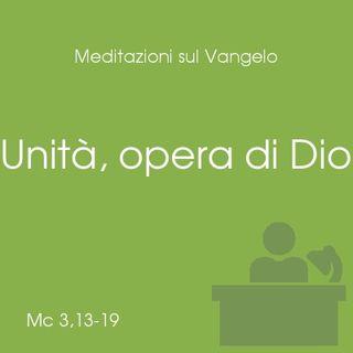 Unità, opera di Dio - Mt 3,13-19