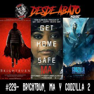 D.A. 229- Brightburn, Ma y Godzilla 2