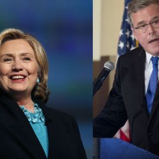 Hillary and Jeb launch campaigns