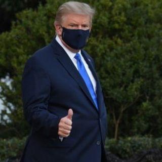 Coronavirus: Trump dall'ospedale twitta che sta andando bene il suo ricovero