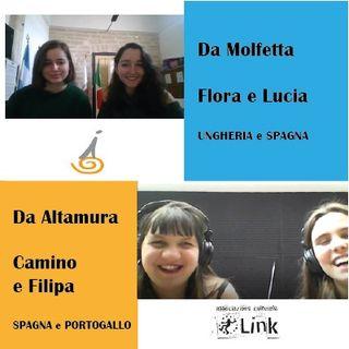 Le volontarie Camino e Filipa incontrano Lucia e Flora dell'Associazione InCo
