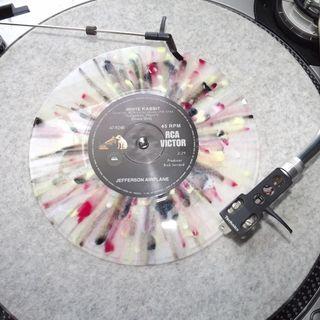 White Rabbit on Psychedelic Splash Colored Vinyl