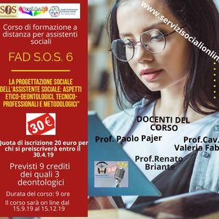 """FAD S.O.S. 6 - Primo Podcast - """"Il gruppo come strumento di promozione sociale della comunità"""""""