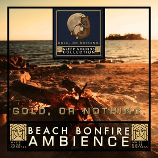 Beach Bonfire Ambience   White Noise   ASMR & Relaxation   Deep Sleep