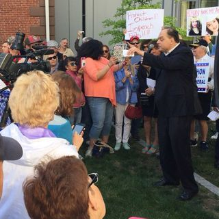 Rally-Goers Call For Removal Of Salem Judge