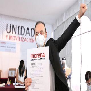 Durazo se registra como precandidato al gobierno de Sonora