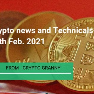 Cryptpocurrencies news and Technicals 17th  FEB. 2021