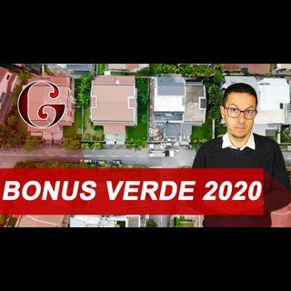 BONUS VERDE 2020: la detrazione per la sistemazione dei giardini e delle aree private