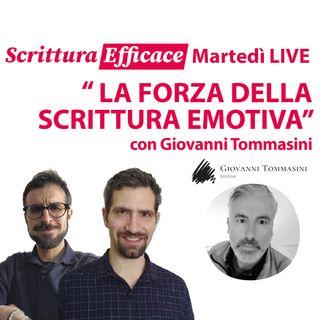 La forza della scrittura emotiva, con Giovanni Tommasini