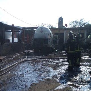 Incendio de pipas en Milpa Alta