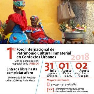 Primer Foro Internacional de Patrimonio Cultural Inmaterial en Contextos Urbanos
