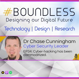 EP34: Dr Chase Cunningham, Cyber security leader: Cyber-hacking has been commoditized