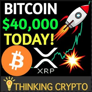 Bitcoin Tops $39K, Will Hit $40K Today With Stock To Flow Model On Track - XRP Pumps 50%
